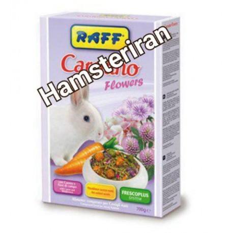 غذا مخلوط خرگوش شکلان حاوی هویج و گلهای وحشی