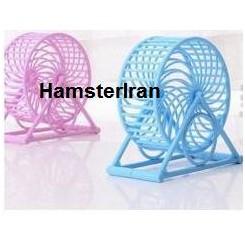 چرخ و فلک پلاستیکی همستر پایه دار