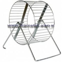 چرخ و فلک تمام استیل قطر 12 سانتی متر همراه با پایه فلزی