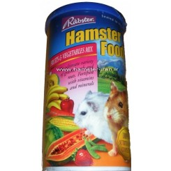 غذا تخصصی همستر حاوی میوه جات و سبزیجات