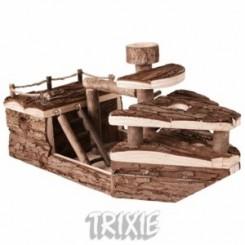 لانه چوبی همستر به شکل کشتی