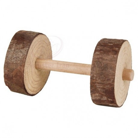 اسباب بازي چوبی به شکل دمبل